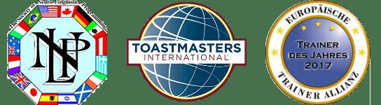 Auszeichnungen NLP Toastmaster und Trainer-Allianz für Norman Gräter