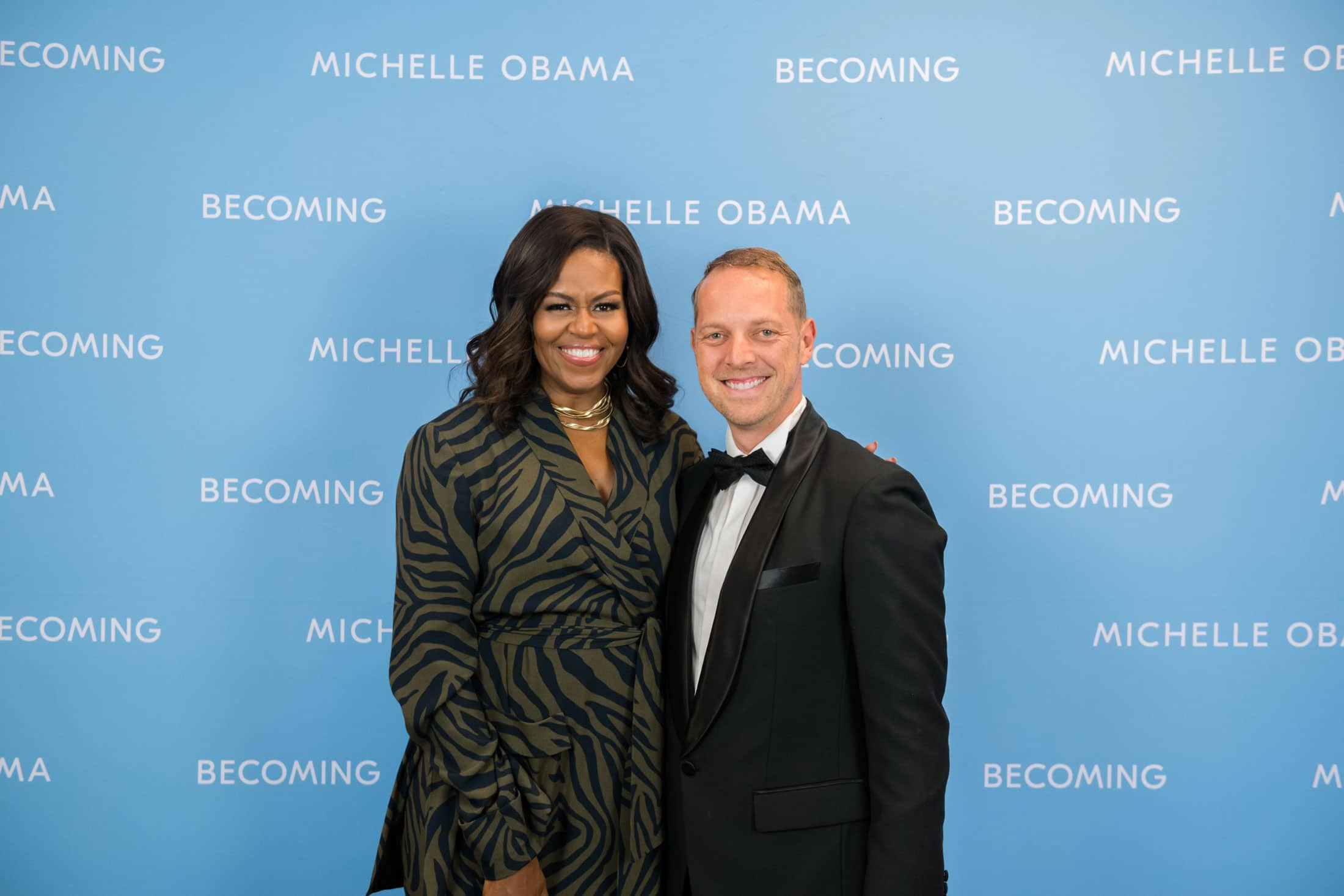 Michelle Obama mit Norman Gräter by FERDY DAMMA
