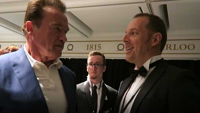 Norman Gräter mit Arnold Schwarzenegger
